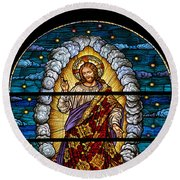 Stained Glass Pc 03 Round Beach Towel