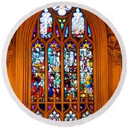 Stained Glass Window In The Gothic Revival Chapel Streets