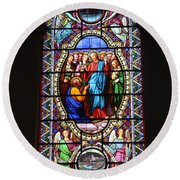 Stained Glass Window Viii Round Beach Towel