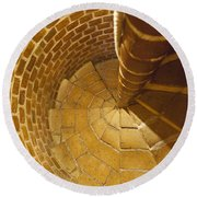 Staircase In Stone Round Beach Towel