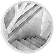 Staircase, Mexico City, C.1924 Round Beach Towel