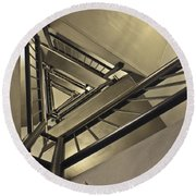 Stairing Up The Spinnaker Tower Round Beach Towel