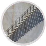 Stairs And Shadows 1 Round Beach Towel