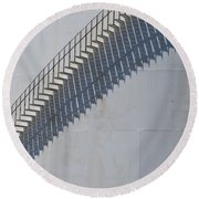 Stairs And Shadows 3 Round Beach Towel