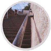 Stairs Round Beach Towel