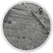 Stairs In The Cemetary Round Beach Towel
