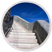 Stairway At Mount Diablo State Park Round Beach Towel
