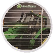 Stairway To John Deere Heaven Round Beach Towel by Janice Rae Pariza
