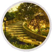 Stairway To Nirvana Round Beach Towel