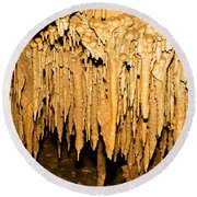 Stalactite Formations In Florida Round Beach Towel