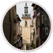 Stamped Bell Tower Round Beach Towel