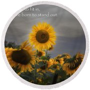 Stand Out Round Beach Towel