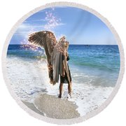 Stand Your Ground I Am With You Round Beach Towel