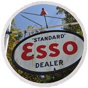Standard Esso Dealer Round Beach Towel