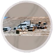 Standard Mill At Bodie Panorama Round Beach Towel by Barbara Snyder