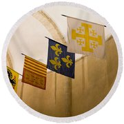 Standards Of The Knights Of The Templar Round Beach Towel