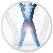 Amani African American Nude Sensual Sexy Fine Art Print In Color 1203.03 Round Beach Towel