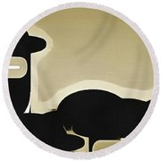 Standing Out Round Beach Towel