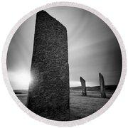 Standing Stones Of Stenness Round Beach Towel