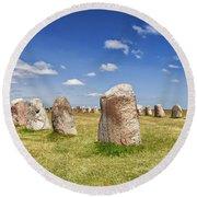 Standing Stones Round Beach Towel