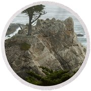 Standing Tall On The Rock Round Beach Towel