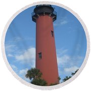Standing Up Above The Trees Round Beach Towel