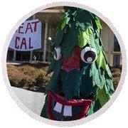Stanford Tree Mascot Beat Cal Round Beach Towel