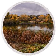 Stanislaus Watershed Round Beach Towel