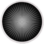 Star Black Round Beach Towel