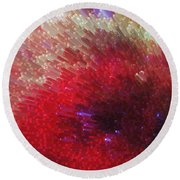 Star Burst - Red Abstract Art By Sharon Cummings Round Beach Towel