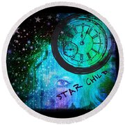 Star Child - Time To Go Home Round Beach Towel