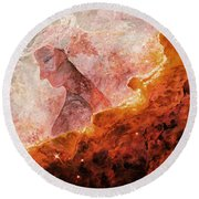 Star Dust Angel - Desert Round Beach Towel
