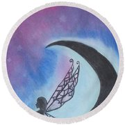 Star Fairy Round Beach Towel