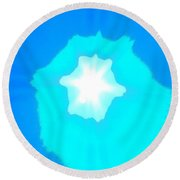 Star In The Morning Sky - Painting Like Photograph Of The Sun In The Morning Sky Round Beach Towel