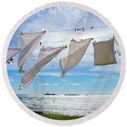 Star Island Clothesline Round Beach Towel