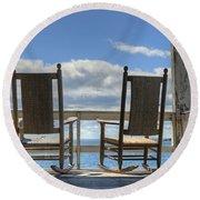 Star Island Rocking Chairs Round Beach Towel