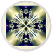Star Jewel Fractal Round Beach Towel