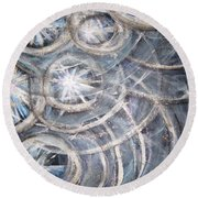 Star Light Round Beach Towel
