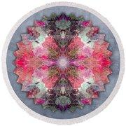 Star Mandala B Round Beach Towel