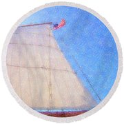 Star Of India. Flag And Sail Round Beach Towel