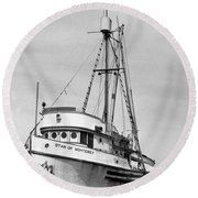 Star Of Monterey In Monterey Harbor Circa 1948 Round Beach Towel