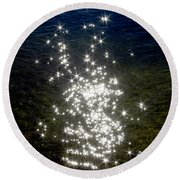Star Reflection In The Water Round Beach Towel
