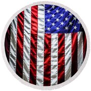 Star Spangled Banner Round Beach Towel