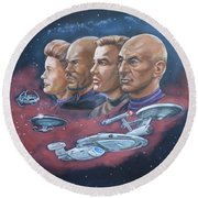 Star Trek Tribute Captains Round Beach Towel