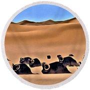 Star Wars Desert Animals Round Beach Towel