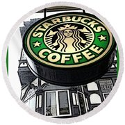 Starbucks Logo Round Beach Towel