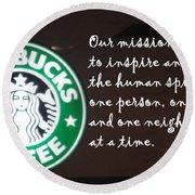 Starbucks Mission Round Beach Towel