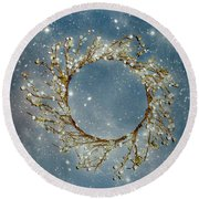 Stardust And Pearls Round Beach Towel