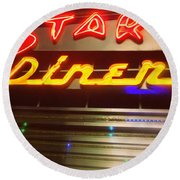 Stardust Diner - New York City Round Beach Towel