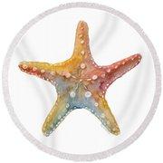 Starfish Round Beach Towel by Amy Kirkpatrick
